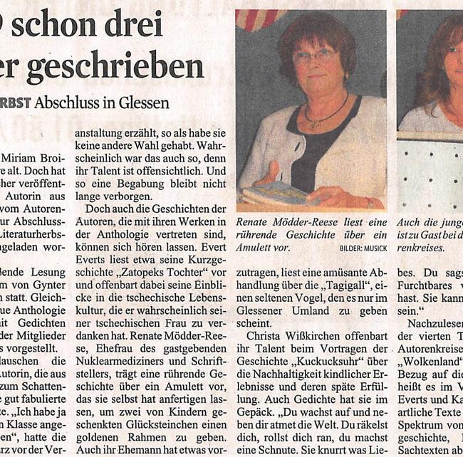 Presseartikel Kölner Stadtanzeiger vom 27.9.2010